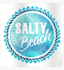 Salty Beach Poster