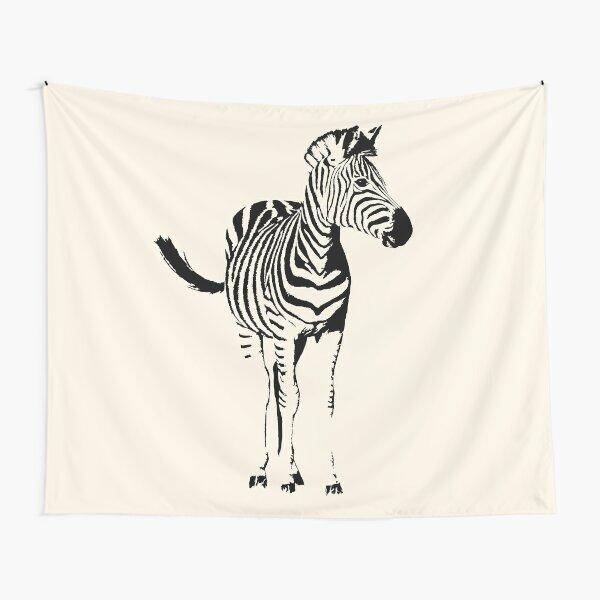 Zebra Full Figure   African Wildlife Tapestry