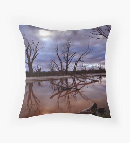 Backwater Blues Throw Pillow