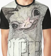 Superb Ostrich Graphic T-Shirt