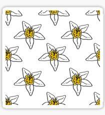 flower of vanilla seamless doodle pattern Sticker