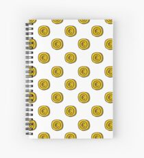 coin seamless doodle pattern Spiral Notebook