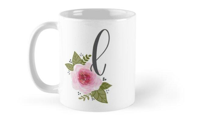 Floral Monogram l by ktscanvases