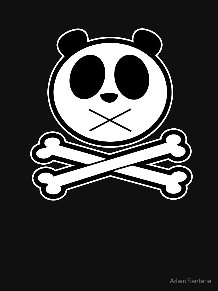 Panda Cross Bone - Pattern (Black) by Adamzworld