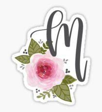 Floral Monogram m Sticker