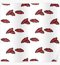 goji berries seamless doodle pattern Poster