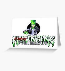 Haunting Starring Polterguy - SEGA Genesis Title Screen Greeting Card