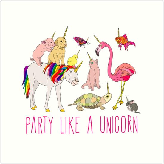 Party Like A Unicorn by Notsniw Art
