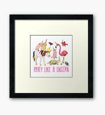 Party Like A Unicorn Framed Print