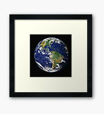 Earth in HD from Space Framed Print
