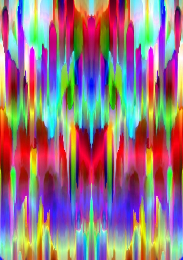 Colorful digital art splashing G487 by MEDUSA GraphicART