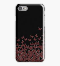 Butterfly Horde ;) Red on black, insects pattern iPhone Case/Skin