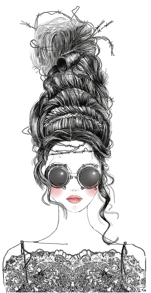 Funky Updo Girl by FashionSquiggle
