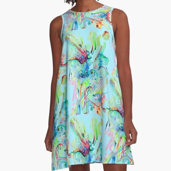 El Camino Acids - Watercolor Painting A-Line Dress