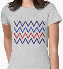 Blue Blue Red Blue Women's Fitted T-Shirt