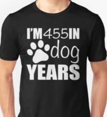 65th Birthday Dog Years Unisex T-Shirt