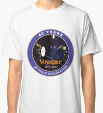 Voyager-Programm: Logo zum 40. Jahrestag Classic T-Shirt