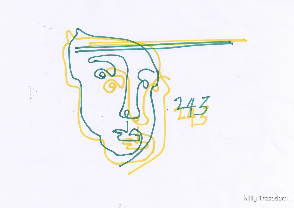 BLIND DRAWING FACE 243 by Milly Tresadern