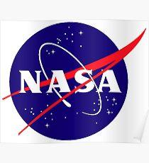 Official NASA (meatball) Logo Poster