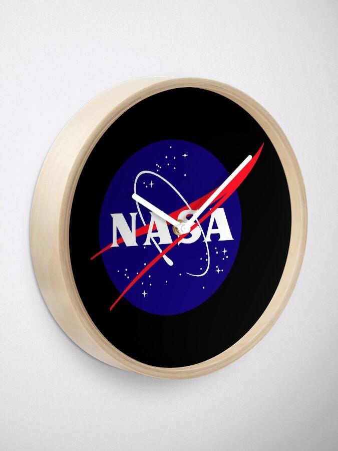 Alternate view of Official NASA (meatball) Logo Clock