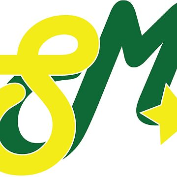 Super Millennion Lettermark Yellow/Green by Millennion