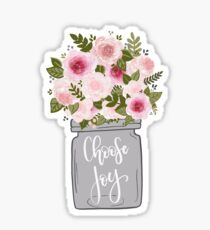 Mason Jar of Flowers Sticker