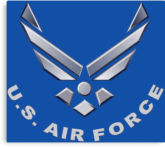 U S Air Force Symbol For Dark Colors Canvas Prints By