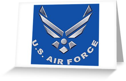 U S Air Force Symbol For Dark Colors Greeting Cards By
