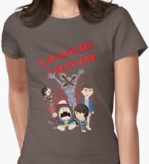 Upside Down Mash Up Womens Fitted T-Shirt