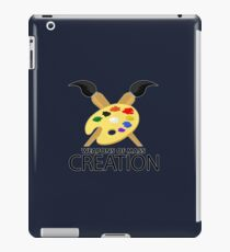 Weapons of mass creation - Blue iPad Case/Skin