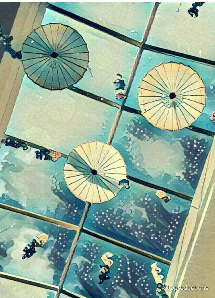 Standing Umbrellas by Xavier  Williams