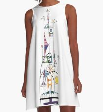 Tower of the Four Winds A-Line Dress