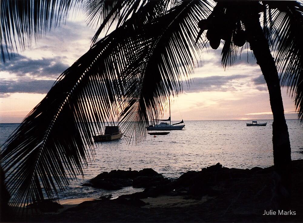 Sundown at Kona Village by Julie Marks