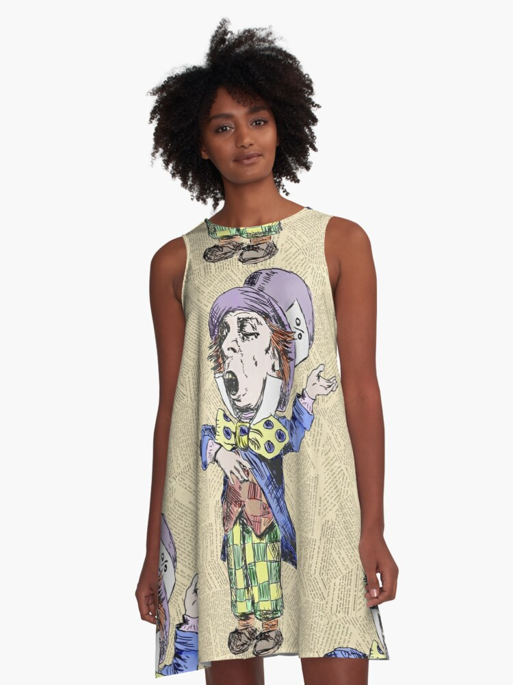 The Mad Hatter A-Line Dress Front