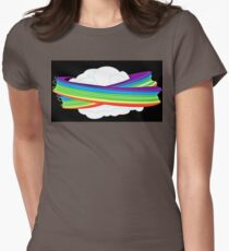 flying with rainbow dash Womens Fitted T-Shirt