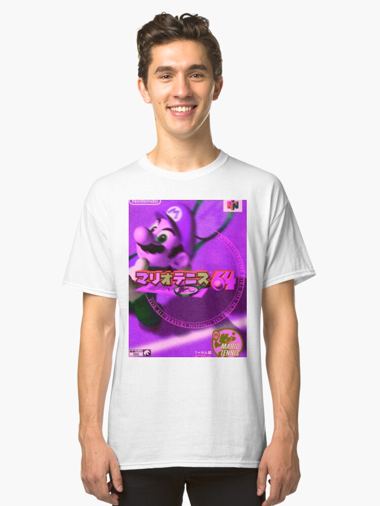 aesthtic mario tennis  Classic T-Shirt Front