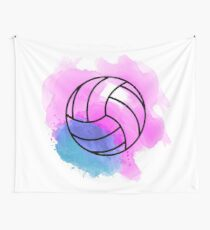 Volleyball Watercolor Wall Tapestry