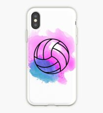 Volleyball Watercolor iPhone Case