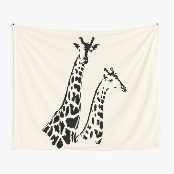 Giraffe Pair   African Wildlife Tapestry