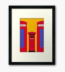 POST & TELEPHONE Framed Print