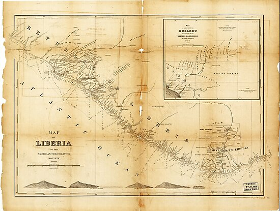 Map of Liberia (1870) by allhistory