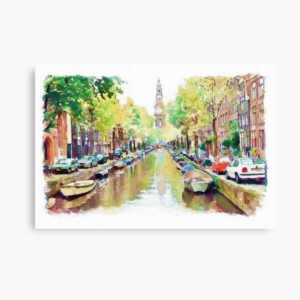Amsterdam Canal 2 Canvas Print
