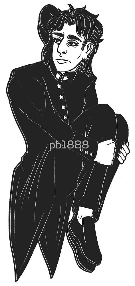 Noriaki Kakyoin - Black & White by pb1888