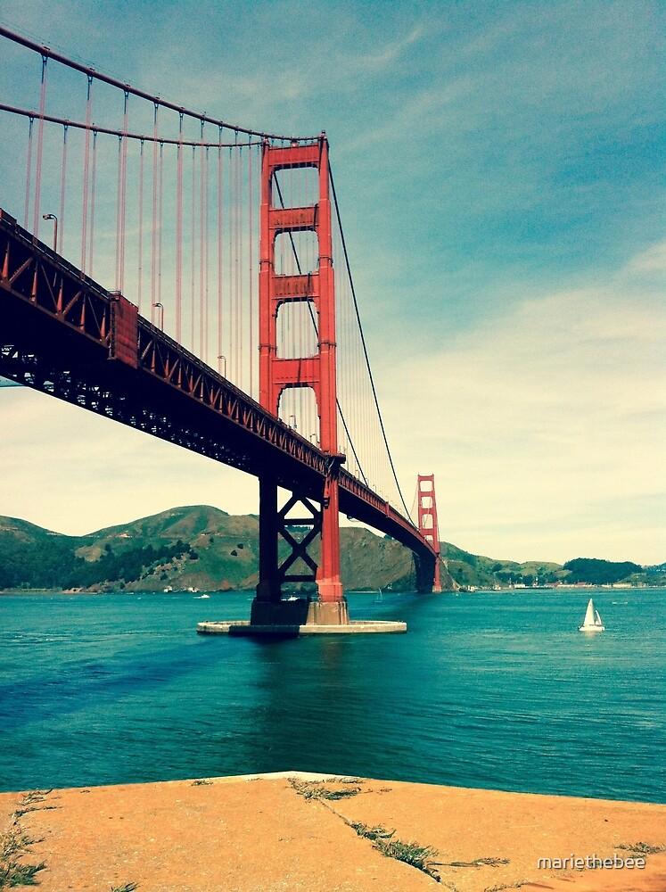 View of the Golden Gate Bridge by mariethebee