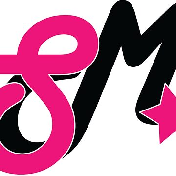 Super Millennion Lettermark Hot Pink/Black by Millennion