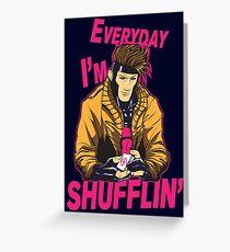 Master Shuffler Redux Greeting Card
