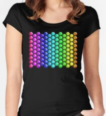 Rainbow Honeycomb Women's Fitted Scoop T-Shirt