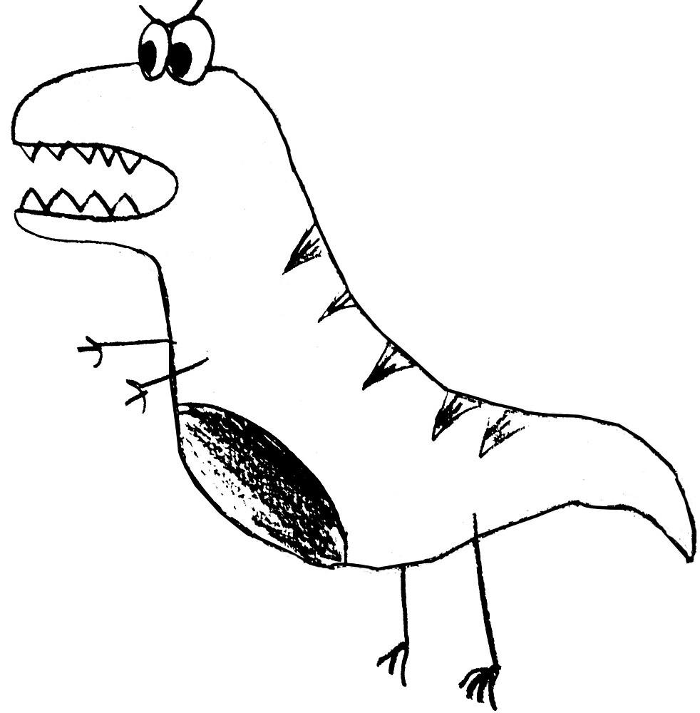 Dinosaur Stick Figure by ashlgator