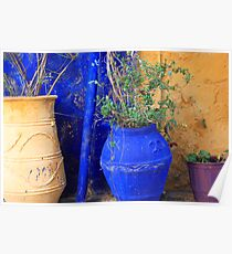 Flower Pots, Greek Style Poster