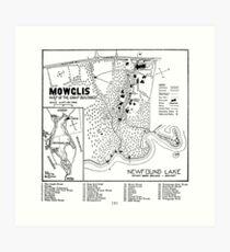 Col. Elwell Map Art Print